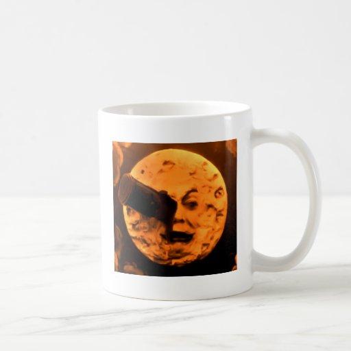 Uma viagem à lua (Sepia da laranja pigmentada) Canecas