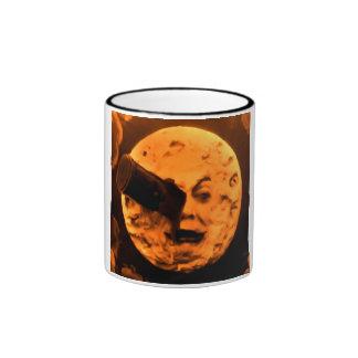 Uma viagem à lua (Sepia da laranja pigmentada) Caneca