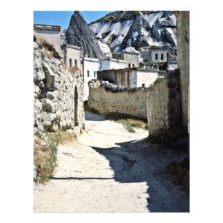 Uma vila em Cappadocia Modelos De Panfleto