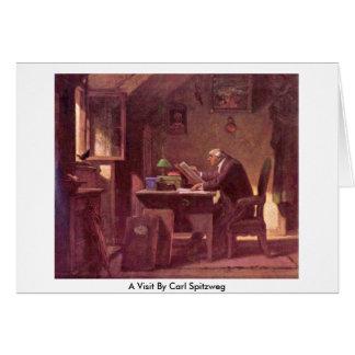 Uma visita por Carl Spitzweg Cartoes