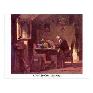Uma visita por Carl Spitzweg Cartoes Postais