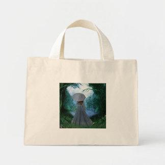 Uma vista azul dois bolsa de lona