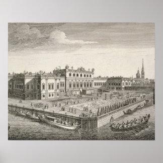 Uma vista noroeste do palácio de verão de seu Impe Pôsteres