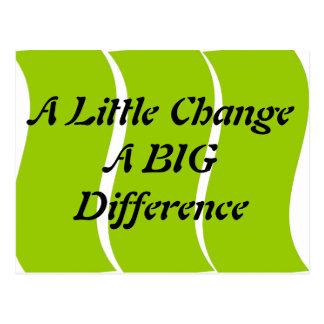 Umas poucas mudanças um cartão grande da diferença