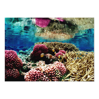 underwa colorido da paisagem coral do recife convite personalizado