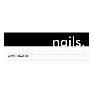unhas. (cartão da nomeação) modelos cartoes de visitas