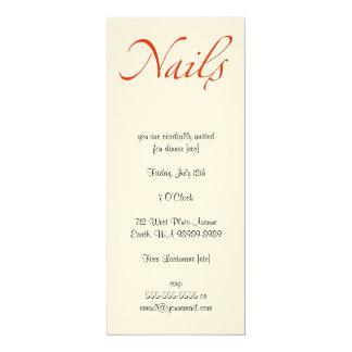 Unhas Convite 10.16 X 23.49cm
