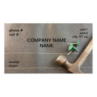 unhas de feltro com martelo modelos cartões de visitas