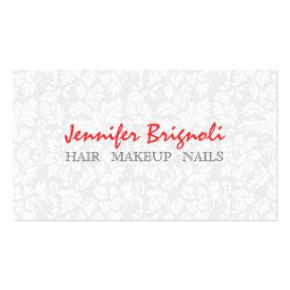 Unhas florais brancas do cabelo da composição dos  cartão de visita