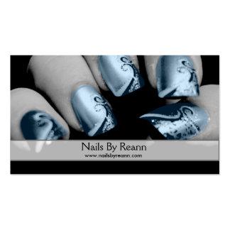 Unhas por Reann (unhas azuis) Cartão De Visita