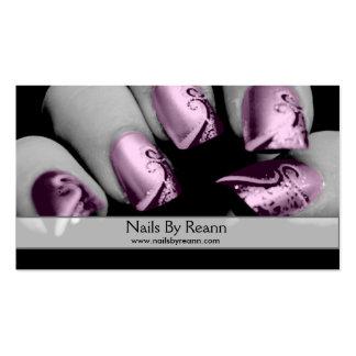 Unhas por Reann (unhas cor-de-rosa) Cartão De Visita
