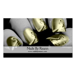 Unhas por Reann (unhas do ouro) Cartão De Visita