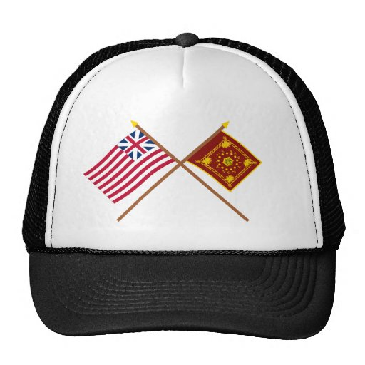 União e bandeiras grandes cruzadas de Pulaski Bones