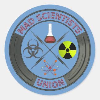 União louca do cientista adesivos redondos