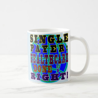 Única caneca de café do pagador