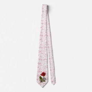 Única foto da rosa vermelha - tipografia do amor gravata