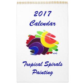 Única página do calendário tropical da arte 2017