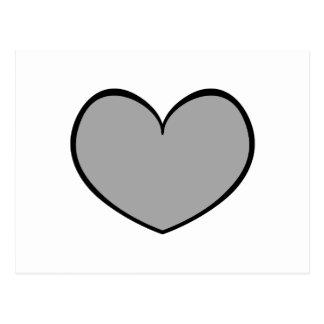 Único cartão cinzento 0001 do coração