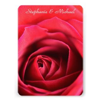 Único convite do casamento da rosa vermelha