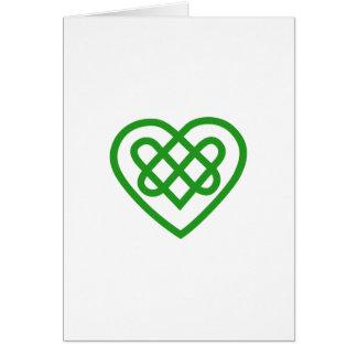 Único coração cartão comemorativo
