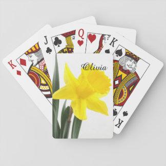 Único Daffodil amarelo do narciso Baralhos