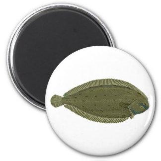 Único logotipo dos peixes ímã redondo 5.08cm