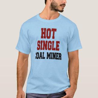 Único mineiro de carvão quente camiseta
