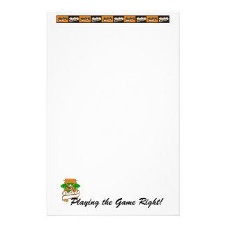 Único papel de carta liso da página papeis personalizados