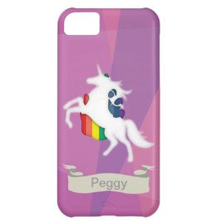Unicórnio & arco-íris capa para iPhone 5C