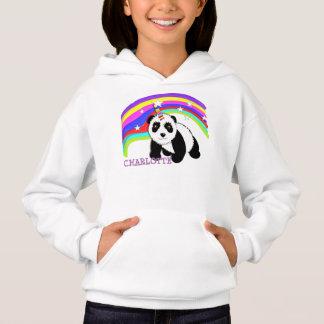 Unicórnio bonito da panda do arco-íris da fantasia