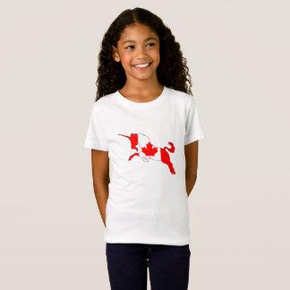Unicórnio Canadá Camiseta
