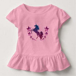 Unicórnio com estrelas camiseta infantil