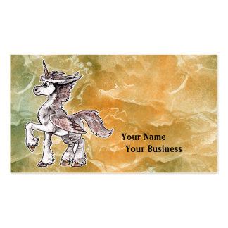 Unicórnio da coruja cartão de visita