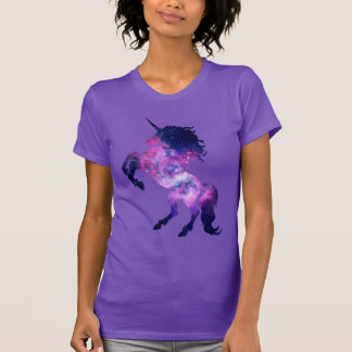 Unicórnio do espaço camiseta