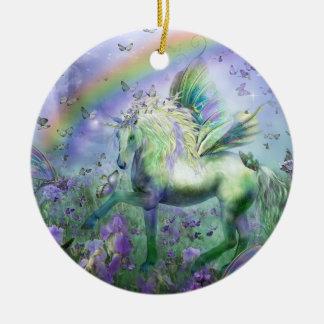 Unicórnio do ornamento do feriado das borboletas