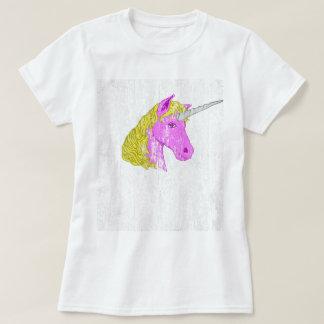 Unicórnio feminino do vintage camiseta
