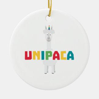 Unicórnio Z0ghq do arco-íris da alpaca Ornamento De Cerâmica