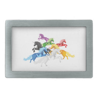 Unicórnios selvagens coloridos da ilustração