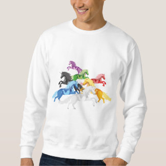 Unicórnios selvagens coloridos da ilustração moletom