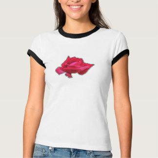 Únicos pop da rosa vermelha no esboço camiseta