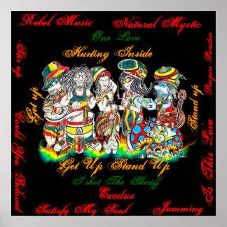 Unidade da reggae poster