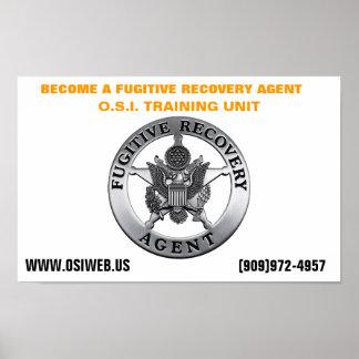 Unidade de treinamento fugitivo da recuperação da  poster