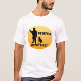 Unidade K9 militar Camiseta