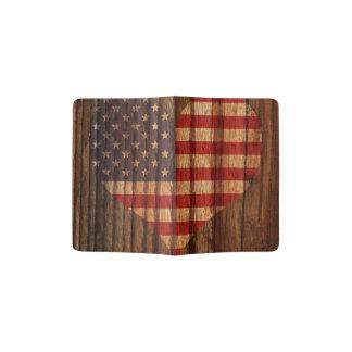Unido+Coração da bandeira dos estados no tema de Capa Para Passaporte