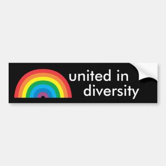 unido na diversidade adesivo para carro
