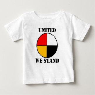 Unido nós estamos camiseta para bebê