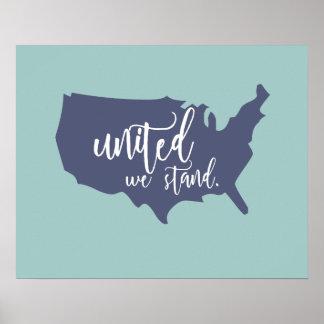 Unido nós estamos o poster pôster