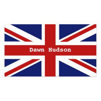 Union Jack Cartões De Visitas