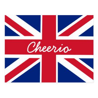 Union Jack Cheerio Cartão Postal