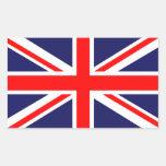 Union Jack clássico Adesivo Em Forma Retangular